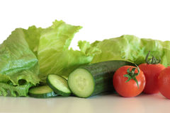 Salad Vegetables Isolated Stock Photography