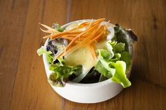 Salad vegetables mixed fruits for eating with steak at local restaurant stock photography