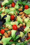 Salad with vegetables and nuts Royalty Free Stock Image