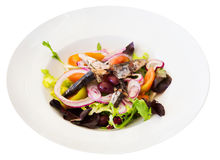 Salad with vegetables and pilchards Stock Photo