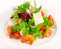 Salad with vegetables and shrimp Stock Photo