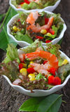 Salad with vegetables and shrimps Royalty Free Stock Photos