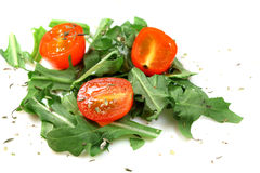 Salad of vegetables tomato Stock Images