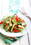 Salad with vinaigrette dressing Royalty Free Stock Images