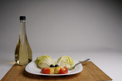 Salad and vinegar Royalty Free Stock Photography