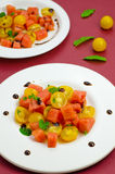 Salad with watermelon Stock Images