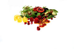 Salad On White Stock Photography
