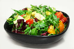 Salad on white Royalty Free Stock Image
