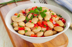 Salad with white beans Stock Images