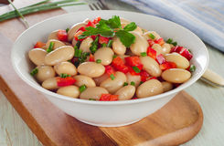 Salad with white beans Stock Photos