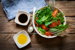 Salad on white bowl Stock Photo