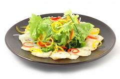 Salad  with white fish Stock Images