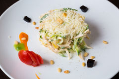 Salad in a white plate Stock Photography