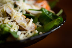 Salad wiht spinach and chicken Stock Photography