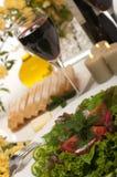 Salad and Wine Stock Image