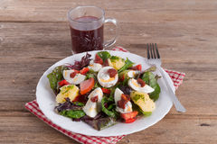 Salad With Boiled Egg Stock Images