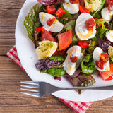 Salad With Boiled Egg Royalty Free Stock Images