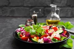 Free Salad With Chicken Meat. Fresh Vegetable Salad With Chicken Breast. Meat Salad With Chicken Fillet And Fresh Vegetables Stock Photography - 117154022