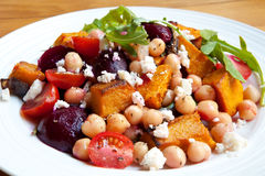 Salad With Chickpeas And Vegetables Royalty Free Stock Photos