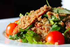 Salad With Eel And Couscous Royalty Free Stock Photos