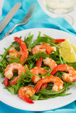 Salad With Fried Shrimps Stock Photography