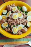 Salad With Green Beans, Tuna And Quail Eggs Stock Images