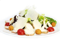 Salad With Meat And Cheese Stock Photos