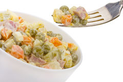 Salad With Pea Royalty Free Stock Photos