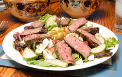 Salad With Peppered Beef Stock Images