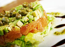 Free Salad With Salmon Stock Photography - 32196972