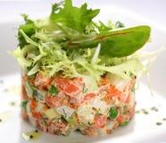 Free Salad With Salmon, Caviar And Arugula Stock Photography - 12486972