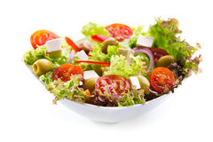 Salad With Vegetables And Greens Stock Photo
