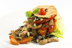 Salad With Vegetables And Meat Stock Images
