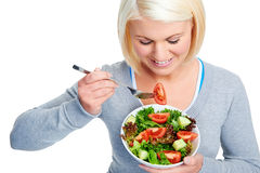 Salad woman Stock Image