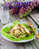 Salad on wooden background. Healthy food concept salad on wooden background Stock Photography