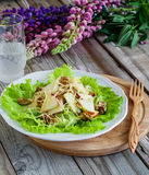 Salad on wooden background. Healthy food concept salad on wooden background Royalty Free Stock Photos