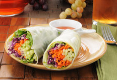 Salad wrap sandwiches Royalty Free Stock Image