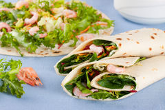 Salad wraps Stock Images