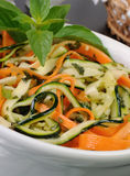 Salad of zucchini and carrots Royalty Free Stock Images