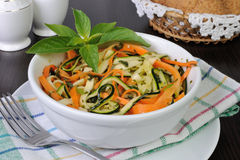 Salad of zucchini and carrots Stock Photography