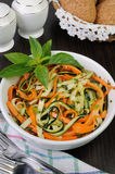 Salad of zucchini and carrots Stock Photos