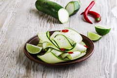 Salad of zucchini Royalty Free Stock Image