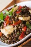 Salada africana das lentilhas das bananas fotos de stock royalty free