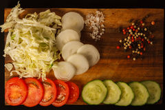 Salada americana tradicional imagens de stock