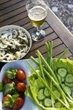 Salada ao ar livre do verão Imagem de Stock