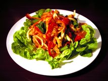 Salada asiática Fotografia de Stock Royalty Free