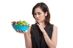 Salada asiática do ódio da mulher fotos de stock