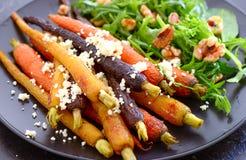 Salada assada da cenoura fotos de stock royalty free