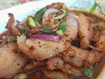 Salada assada picante da carne de porco Imagens de Stock Royalty Free
