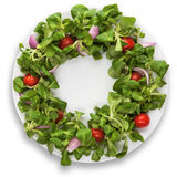Saladaatrasada de Ð com os tomates no fundo branco Fotografia de Stock Royalty Free